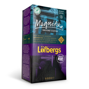 LOFBERGS MAGNIFIKA GROUND COFFEE 500G, MIELONA